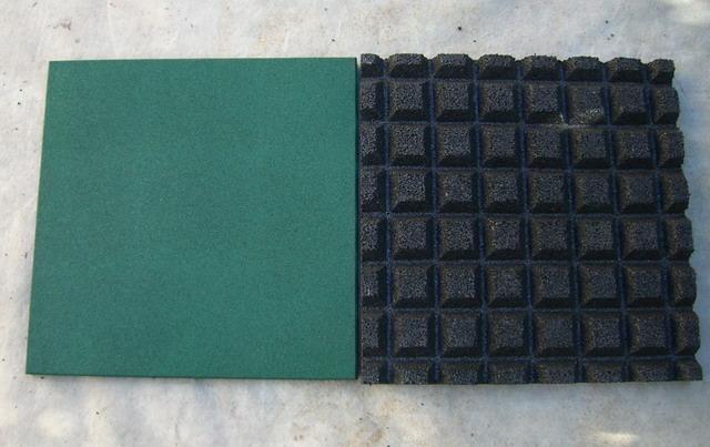 Emei Rubber Tile Rubber Paver Rubber Flooring Interlocking Rubber